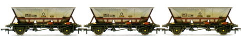 B.R. 32.5T MGR Coal Hoppers (HAA) - Three Wagon Pack (Weathered)