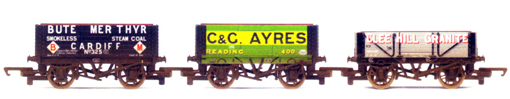 Bute Merthyr, C&G Ayres and Clee Hill Granite Private Owner Wagons - Three Wagon Pack (Weathered)