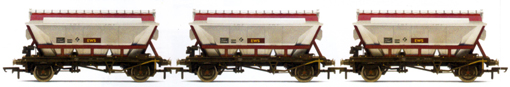 EWS 2 Axle China Clay Hoppers (CDA) - Three Wagon Pack (Weathered)