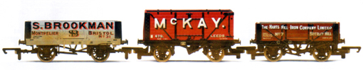 S. Brookman, McKay and The Harts Hill Iron Company Private Owner Wagons - Three Wagon Pack (Weathered)