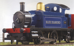 0-4-0T Locomotive - Blue Diamond