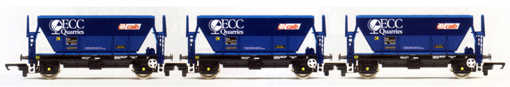 ECC Quarries Procor Hoppers - Three Wagon Pack (Weathered)