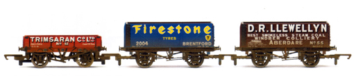 Trimsaran, Firestone Tyres and D.R. Llewellyn Private Owner Wagons - Three Wagon Pack (Weathered)
