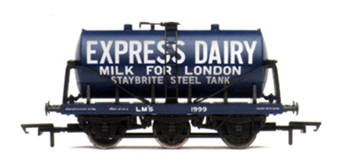 L.M.S. Express Dairies 6 Wheel Milk Tank Wagon