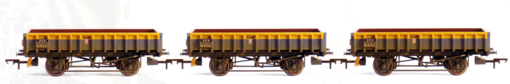 Departmental ZCV (Clam) Wagon - Three Wagon Pack (Weathered)