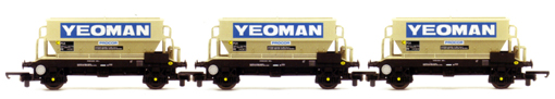 Yeoman PGA Hoppers - Three Wagon Pack (Weathered)