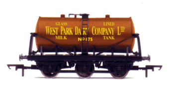 West Park Dairy Company 6 Wheel Milk Tank Wagon