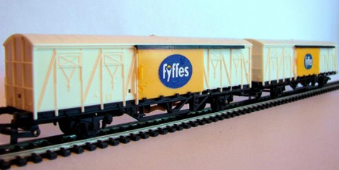 Fyffes Vans with Different Stickers